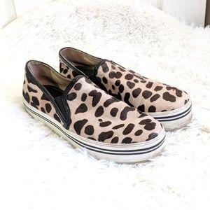 DOLCE VITA | Leopard platform slip on sneakers